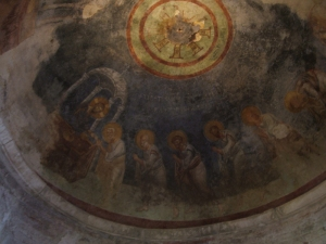 Byzantine frescos in the dome
