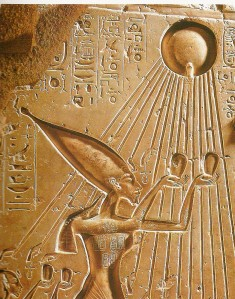 Akhenaten in sun